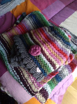 conjunto gorro + bufanda + guantes