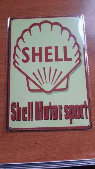 Placa metálica decorativa Shell