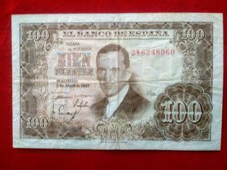 Antiguo billete de 100 pesetas del 1953