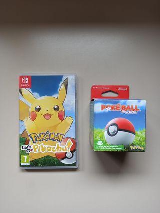 Pokémon Let's Go Pikachu + Pokeball Plus Switch.