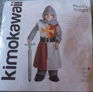 disfraz niño, caballero medieval.