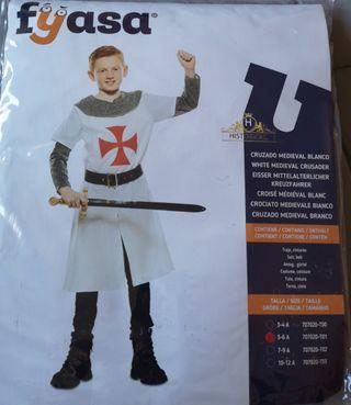 disfraz niño. caballero Templario