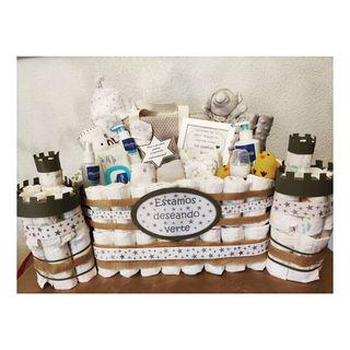Castillo pañales + productos bebe