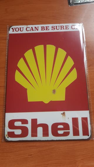Placa metálica decor Shell mas moderna