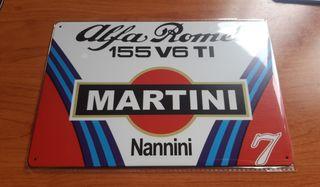 Placa metálica decorativa vintage Martini Alfa