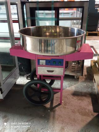 Máquina de algodon de azúcar con carro