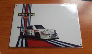 Placa metálica decorativa vintage Porsche Martini