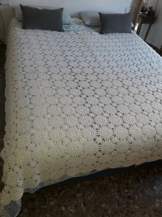 Colcha ganchillo Crochet vintage