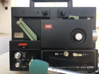 Proyector Super 8 ELMO Sound ST 800 Kit Vintage