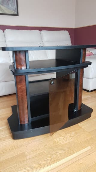Mueble para televisión, giratorio, con ruedas