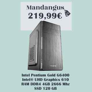 Tacens Anima Intel Pentium Gold G6400 4GB DDR4 120
