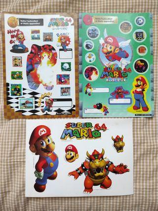 Pegatinas Super Mario 64