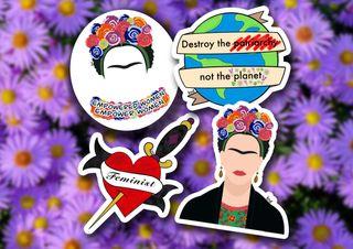 Pegatinas de feminismo, Frida Kahlo