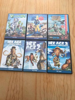Dvd películas dibujos animados