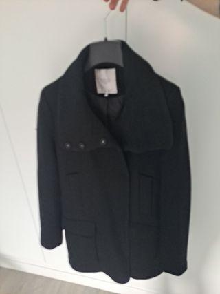 abrigo mujer negro zara