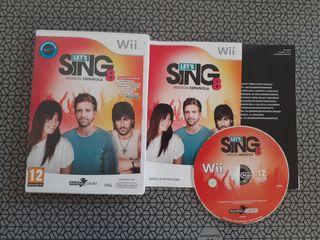 LET'S SING 8 VERSIÓN ESPAÑOLA NINTENDO WII