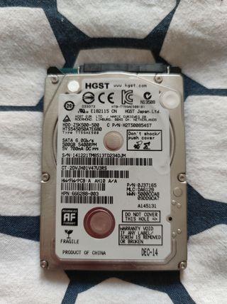 Disco Duro 2.5 pulgadas de 500GB