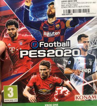 FOOTBALL PES2020 XBOX ONE