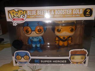 Funko pop ,pack exclusivo Blue beetle y Booster