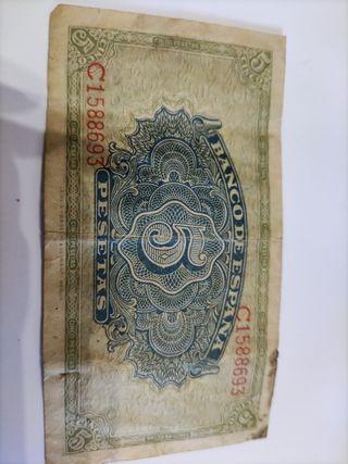 cinco pesetas de 1940