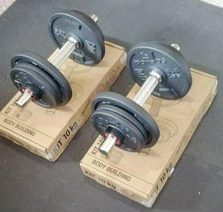 Pack 2 Mancuernas Ajustables 20kg (Envío gratis)
