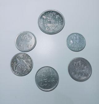 Lote pesetas antiguas