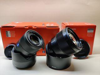 Objetivos Sony Fe 85 y 55mm