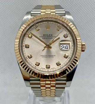 Rolex Datejust. Acero/ Oro Rosa. Diamantes Rolex.