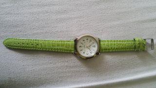 reloj correa verde