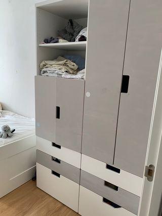 Bonito armario blanco juvenil infantil