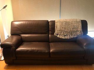 URGE - Sofa de piel de cuero 3 plazas