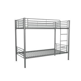 Litera gris de dos camas.