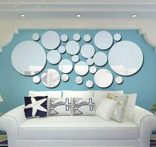 Nuevas Pegatinas de espejo de pared de acrílico