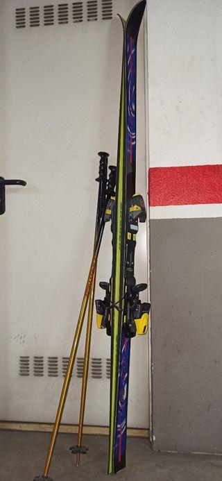 Set de esquís y palos Rossignol