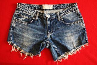 Shorts Zara Jeans Denim 42 Trf Pantalones Mujer