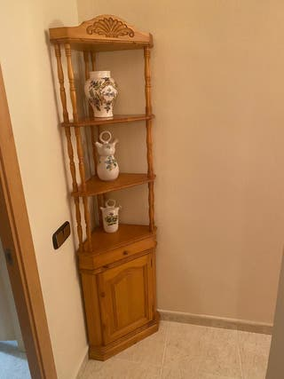 Mueble esquinero rústico