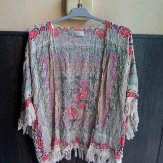 Cárdigan de verano Zara Cover Up M Kimonos
