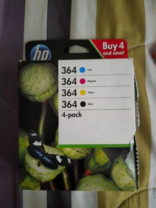 4 Cartuchos tinta impresora HP número 364