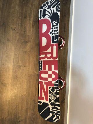 Tabla y fijaciones Burton snowboard