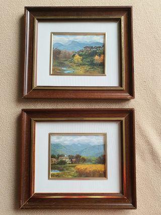 Dos cuadros, paisaje.