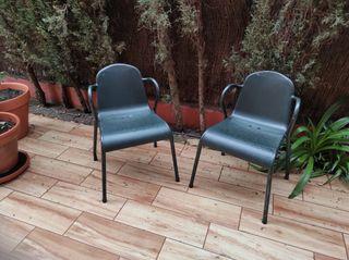 sillas de hierro para jardín