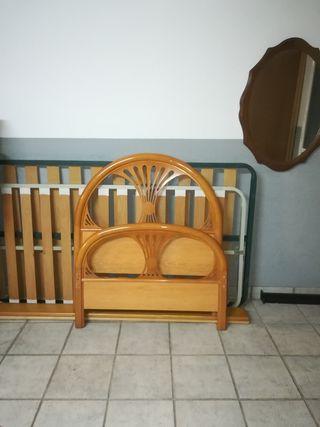 cama, de 90cm.de madera maziza