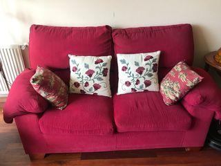 2 sofas color rojo(biplaza)