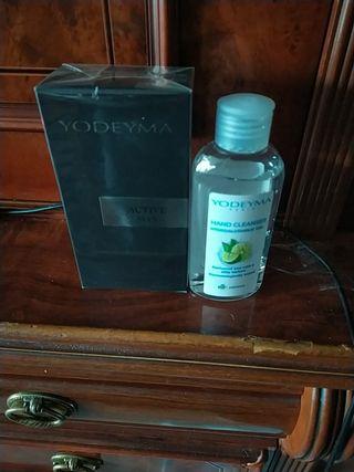 perfume yodeyma caballero y gel hidroalcohólico