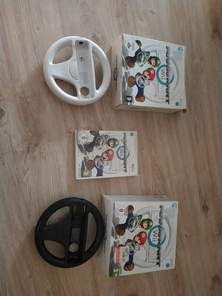 Videojuego Mario kart para wii+ dos volantes