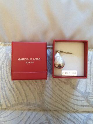 collar perla natural de plata