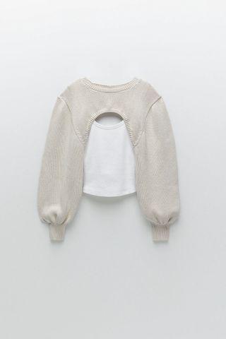 Top combinado jersey Zara