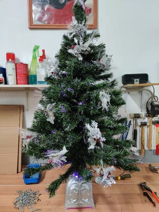 Árbol Navidad Fibra optica Wifi Domótica Colores