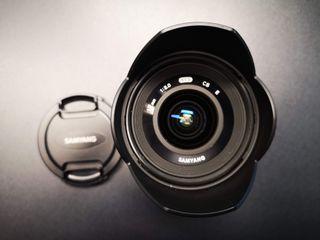 Objetivo Samyang 12 mm f2 para Sony APSC