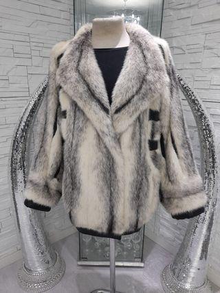 abrigo vison blanco